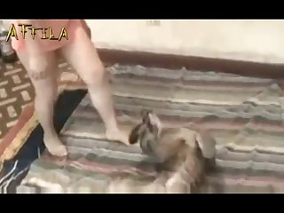 Girl Has Dog Sex Doggy Style (part 1)