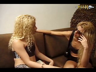 Two Blondes And A Hung Dog (part 1)